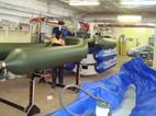 Производство катеров РИБ. Балонный цех.