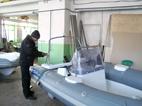 Производство катеров РИБ. Сборочный цех.